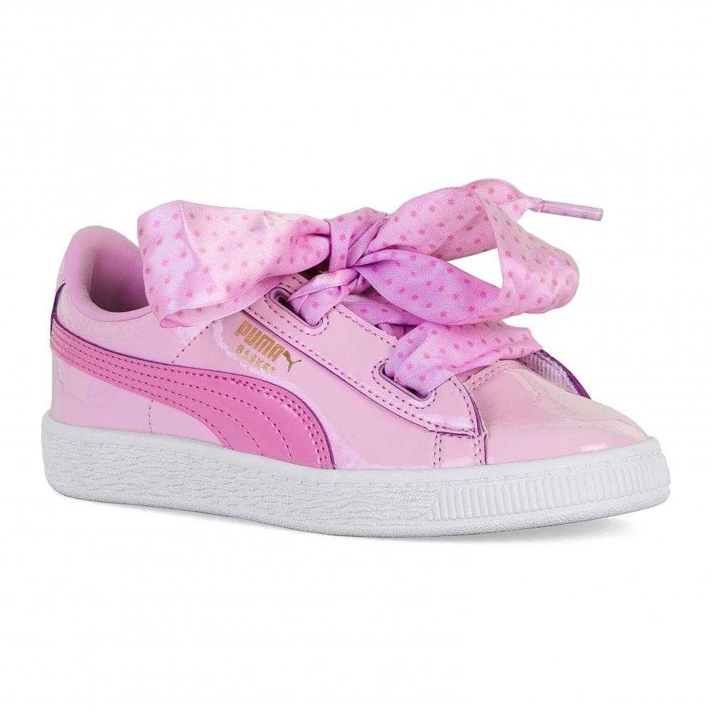 sale retailer d6908 d6756 PUMA Puma Juniors Basket Patent Stars Trainers (Orchid)