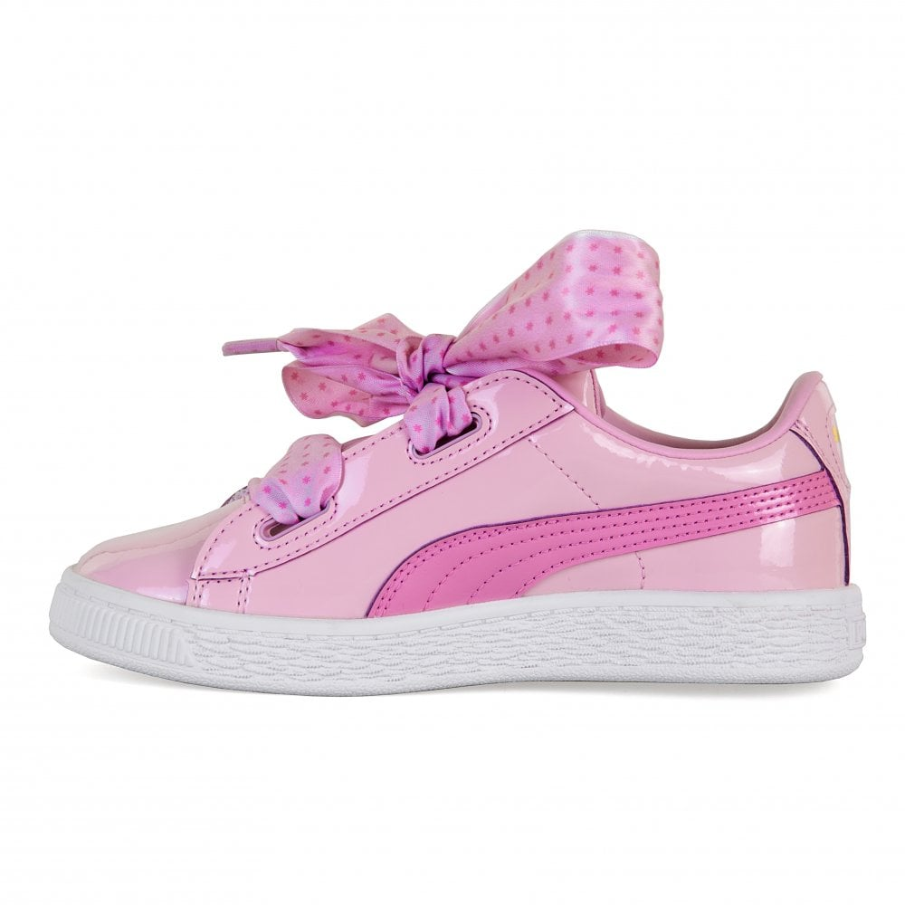 a6527075c42 Puma Juniors Basket Patent Stars Trainers (Orchid) - Kids from Loofes UK