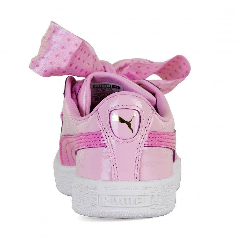 3384aa4ecdf5 Puma Juniors Basket Patent Stars Trainers (Orchid) - Kids from Loofes UK