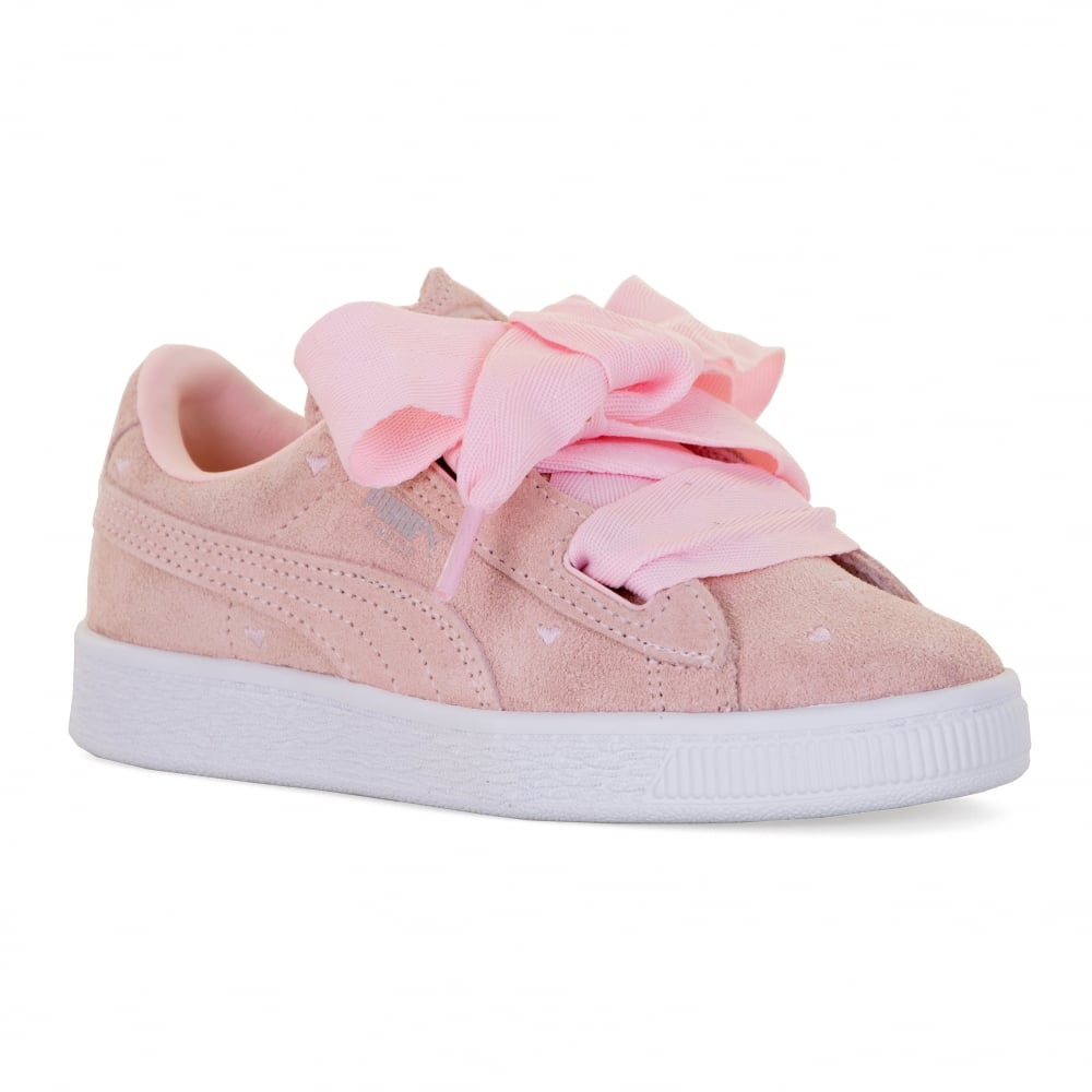 Puma Juniors Suede Heart Valentine Trainers (Pearl) - Kids from ... 0c68a1eff