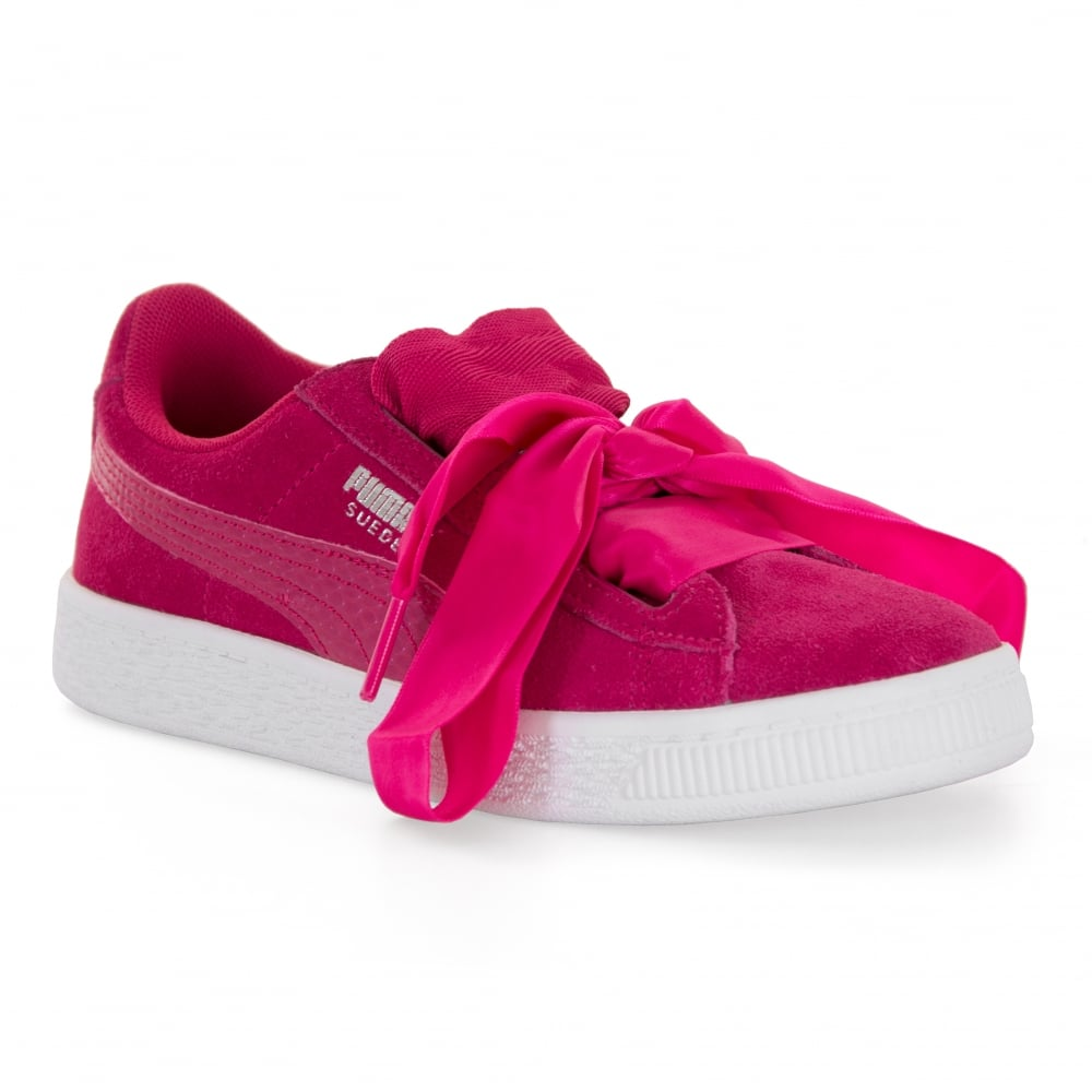 ca12b56a50 Puma Juniors Suede Hearts SNK Trainers (Pink) - Kids from Loofes UK