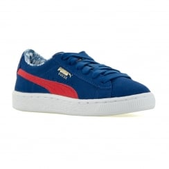 Puma Juniors Superman 316 Trainers (Blue/High Risk Red)