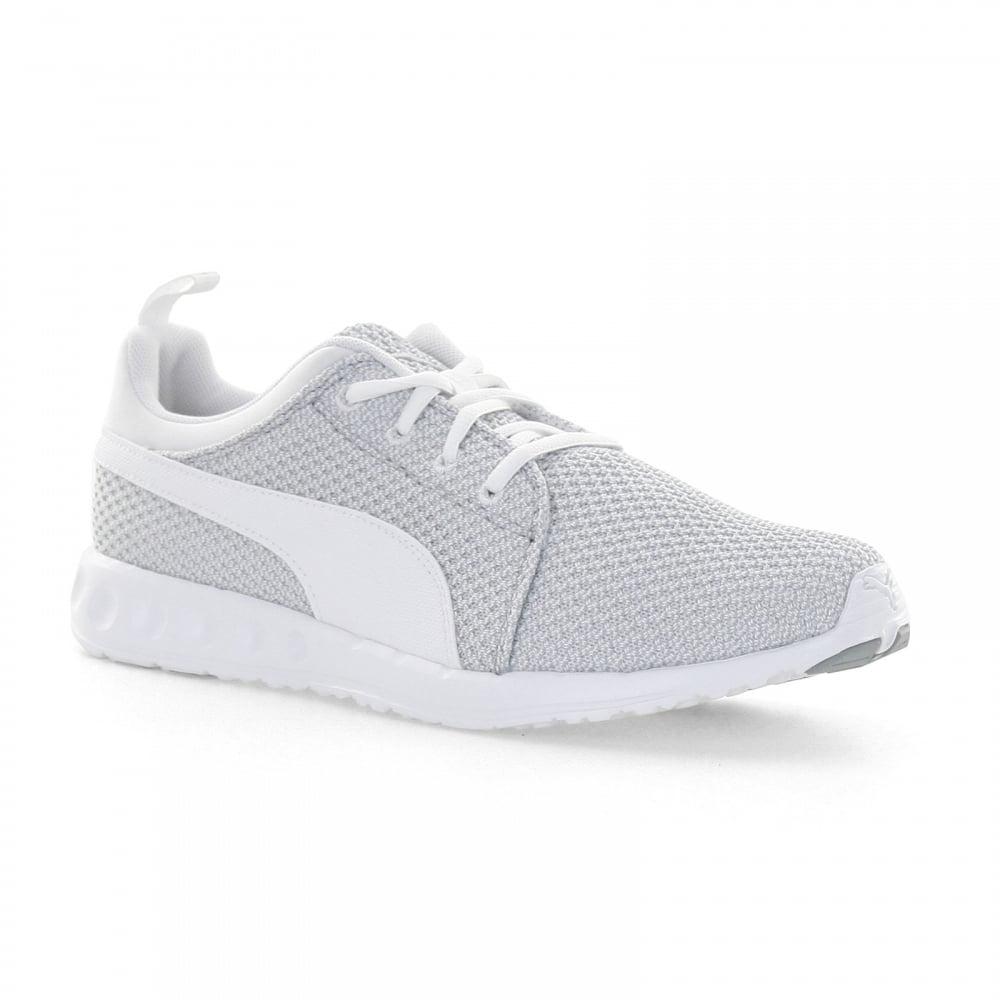grey puma trainers