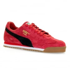 Puma Mens Roma Trainers (Red)