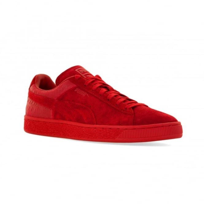 e6d06128a7bb puma mens suede classic emboss 316 trainers barbados cherry from loofes uk