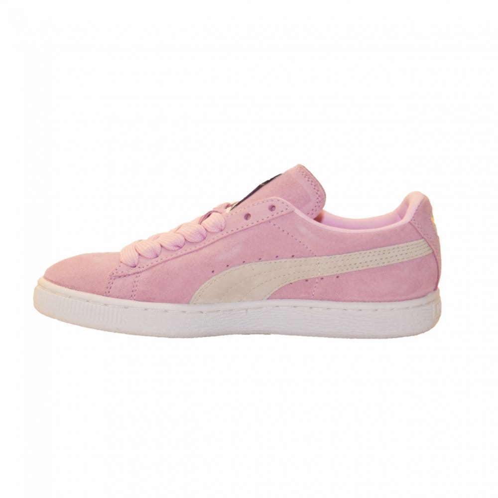 puma puma womens suede trainers pink puma from loofes uk. Black Bedroom Furniture Sets. Home Design Ideas