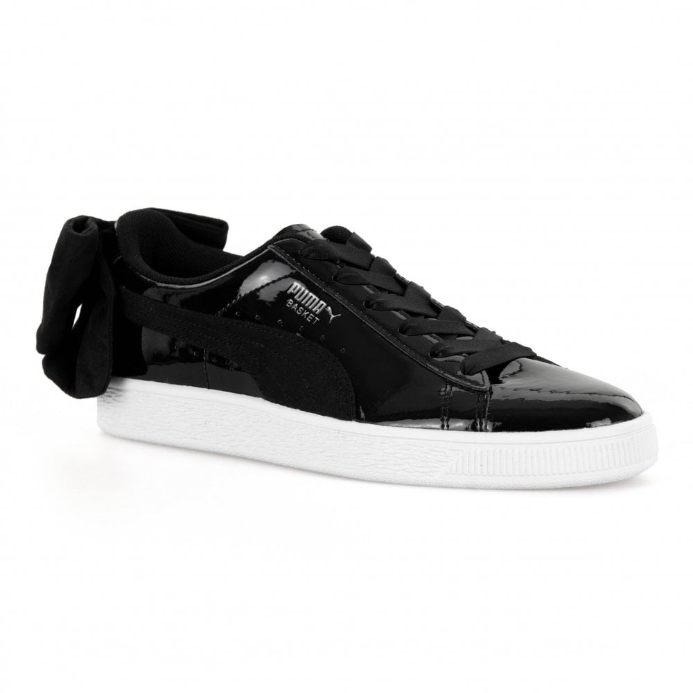 4120f594169383 Puma Womens Basket Bow SB Trainers (Black) - Womens from Loofes UK