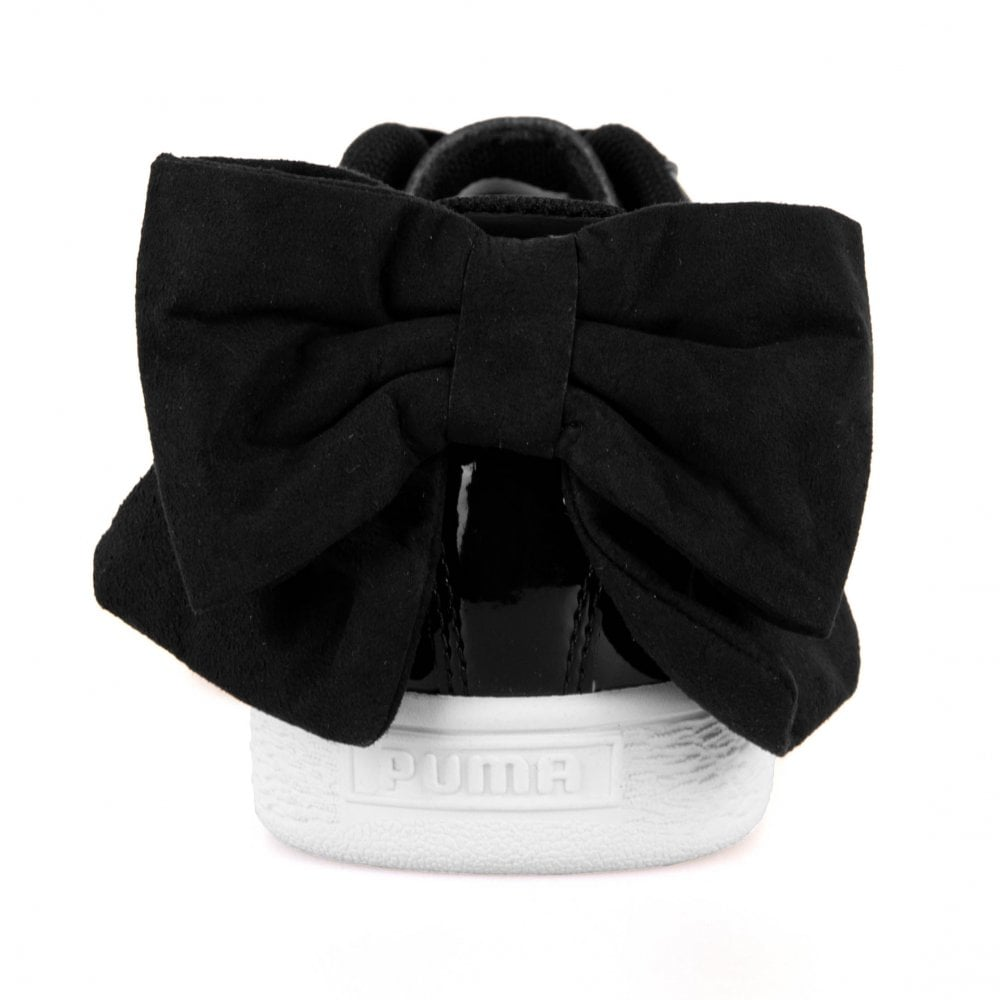 44e0d180fa0 Puma Womens Basket Bow SB Trainers (Black) - Womens from Loofes UK