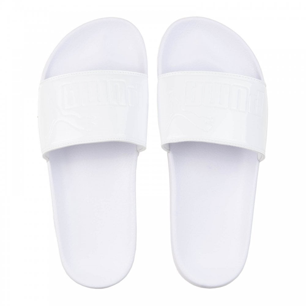 680c785162b9 Puma Womens Leadcat Patent Slides (White) - Womens from Loofes UK