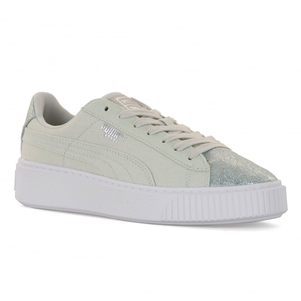 643aec66a87879 Puma Womens Platform Canvas Trainers (Mint) - Womens from Loofes UK