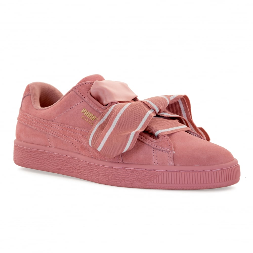 Suede Heart Satin Trainer - Pink Puma