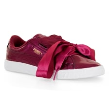 Puma Youths Basket Heart Glam Trainers (Red)