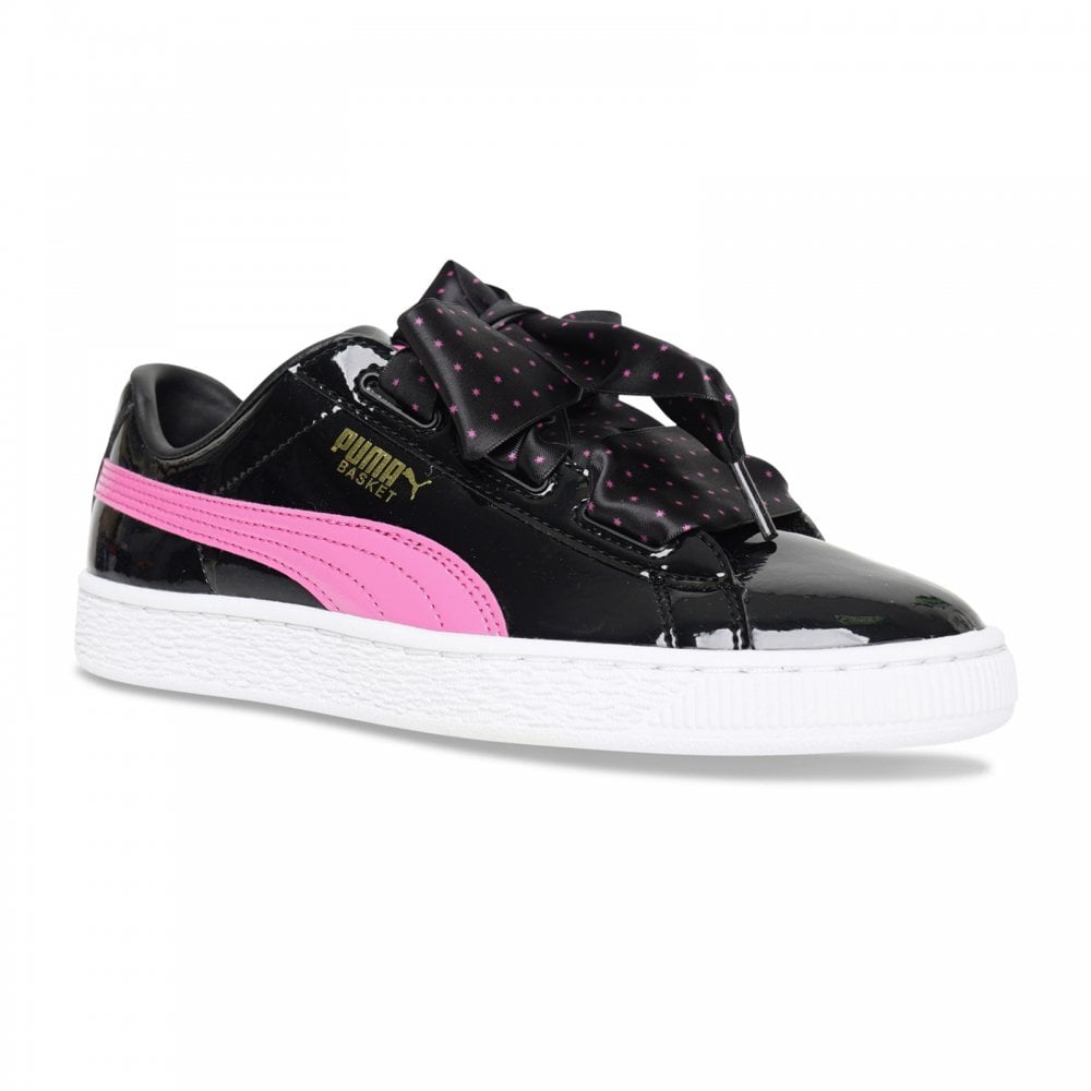 27d69712c71 Puma Youths Basket Patent Stars Trainers (Black) - Kids from Loofes UK