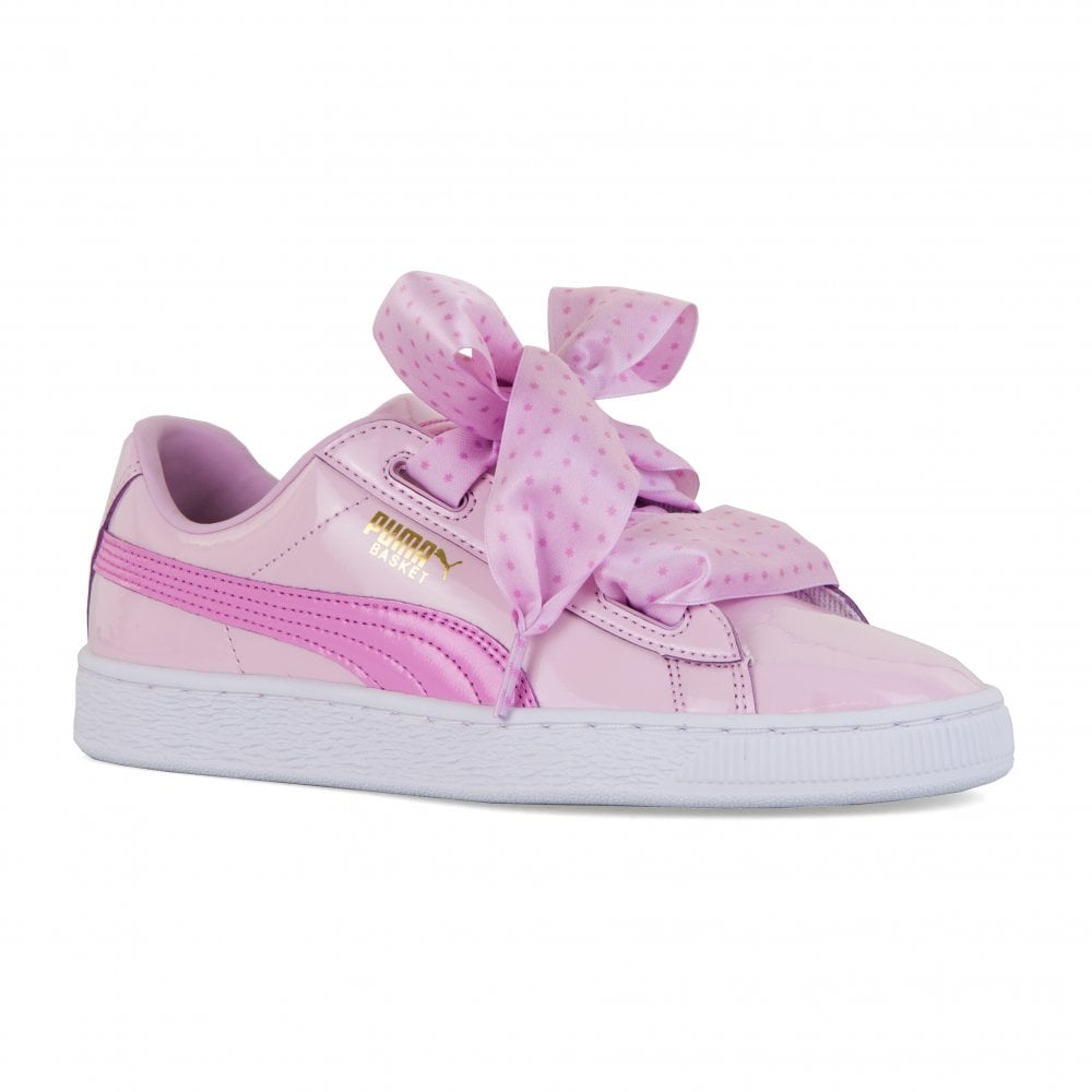 c152519fede Puma Youths Basket Patent Stars Trainers (Orchid) - Kids from Loofes UK