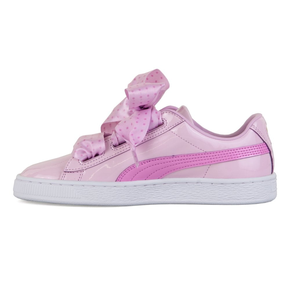 d1152a5c4b23 Puma Youths Basket Patent Stars Trainers (Orchid) - Kids from Loofes UK