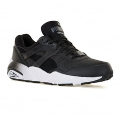 Puma Youths R698 Mesh Trainers (Black/Dark Shadow/White)