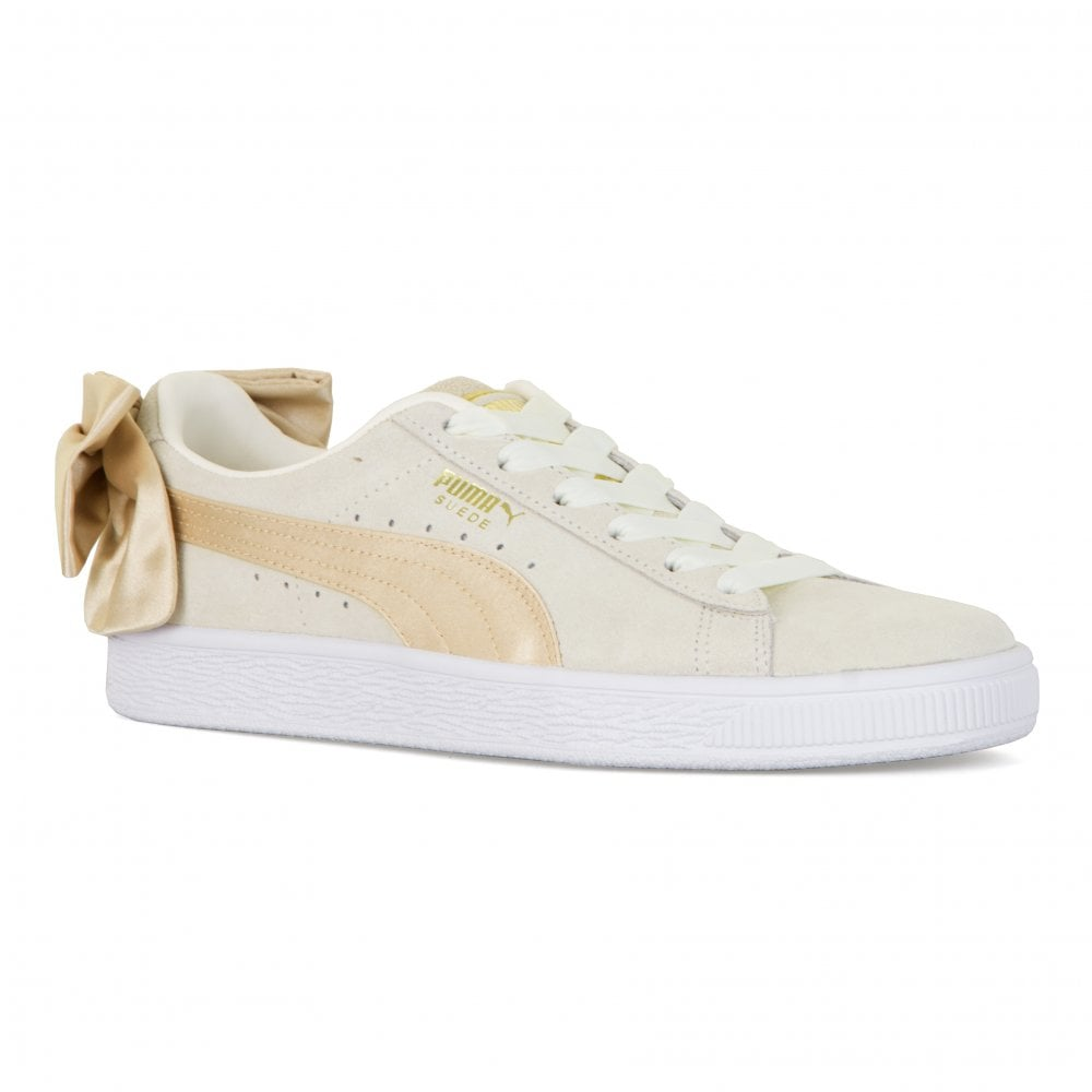 35a0f26cd7adcd Puma Youths Suede Bow Varsity Trainers (Marshmallow) - Womens from ...