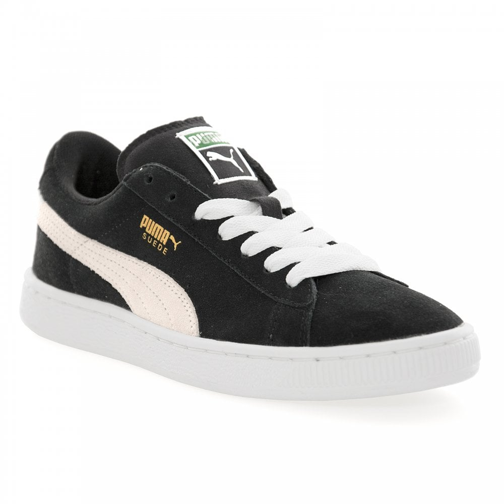 brand new 7bd3f d4825 Youths Suede Classic Trainers (Black/White)