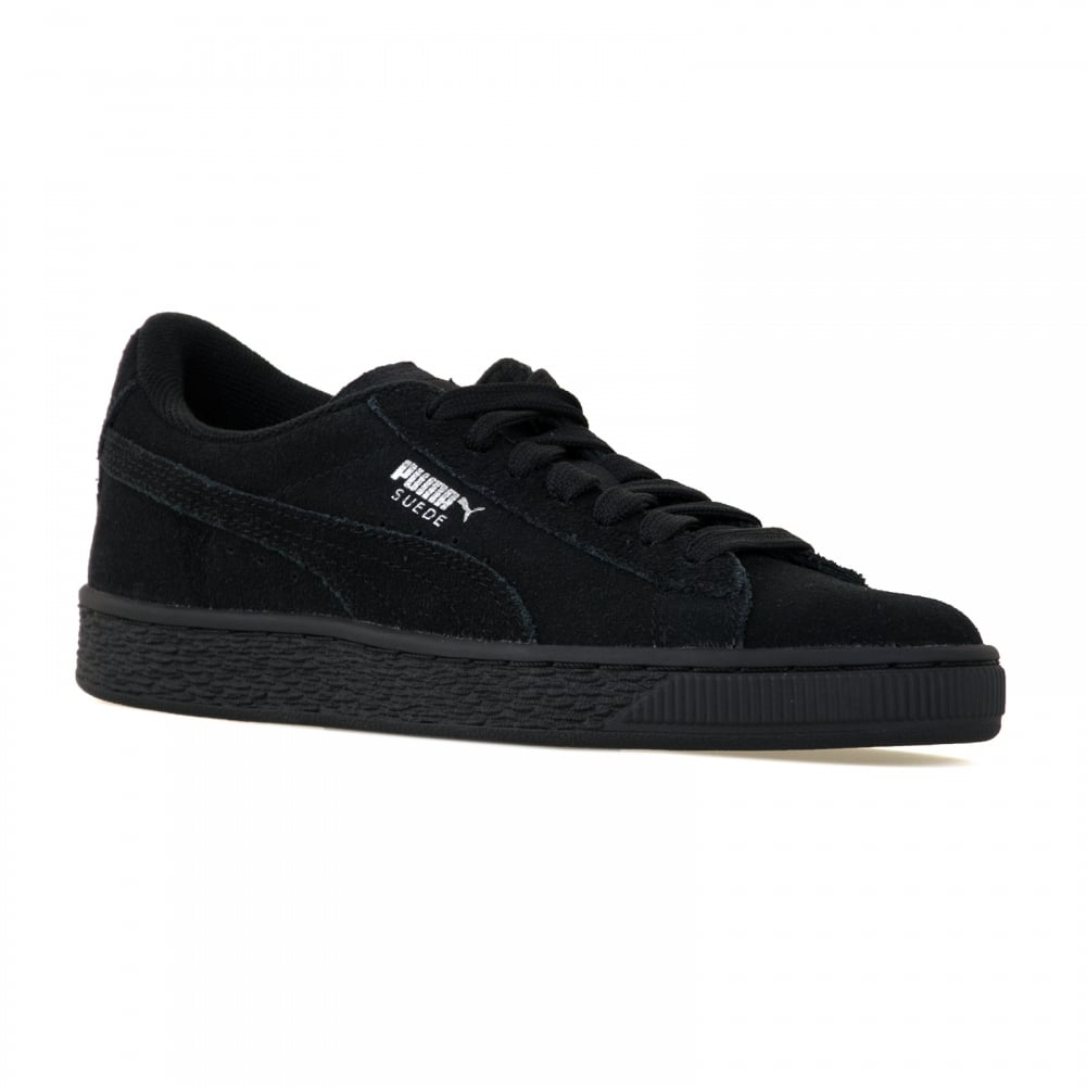 60bc6fee4f3d Puma Youths Suede Trainers (Black Silver) - Kids from Loofes UK