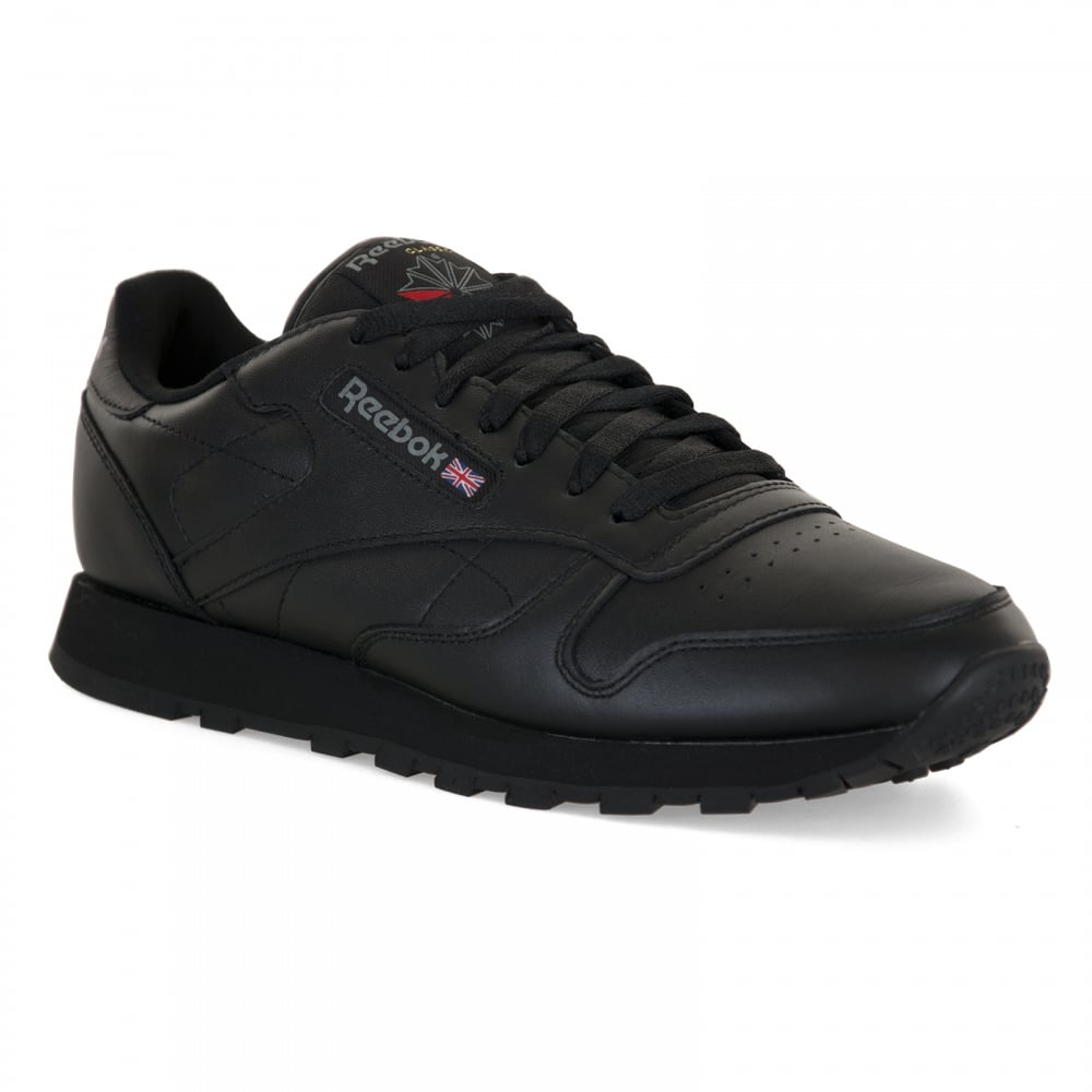 Reebok Mens Classic Leather Trainers (Black) - Mens from Loofes UK 3b74ab678