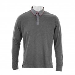 Remus Mens Long Sleeved Jersey Polo Shirt (Grey)