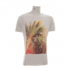 Scotch & Soda Mens Photoprint Tee-Shirt (White)