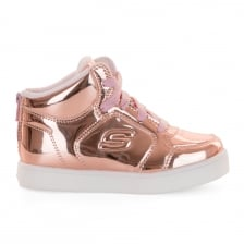 Skechers Infants Energy Lights Lit Dazzle Trainers (Rose Gold)