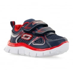 Skechers Infants Mini Rush 316 Trainers (Navy/Red)