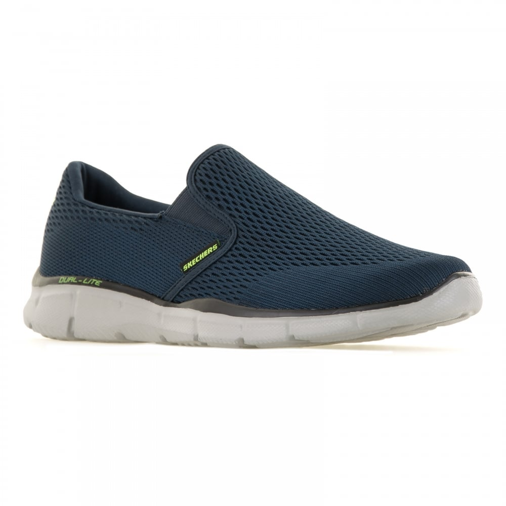 e7c1028b6366 Skechers Mens Equalizer Double Play 116 Trainers (Navy) - Mens from ...