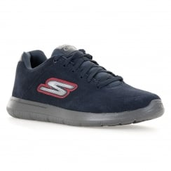 Skechers Mens Go Walk Challenger 316 Trainers (Navy/Red)
