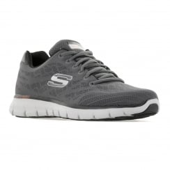 Skechers Mens Synergy Fine Tune 116 Trainers (Charcoal/Black)