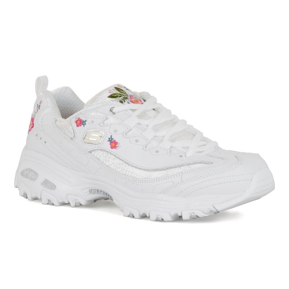 21c0c89eac Skechers Womens D'lites Bright Blossom Trainers (White) - Womens ...