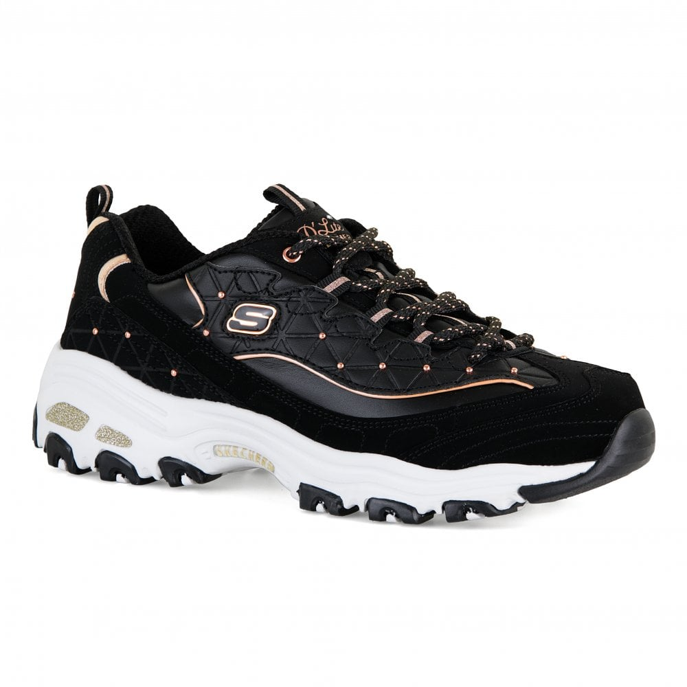 1a5e9bd5892a Skechers Womens D Lites Glamour Feels Trainers (Black) - Womens from ...