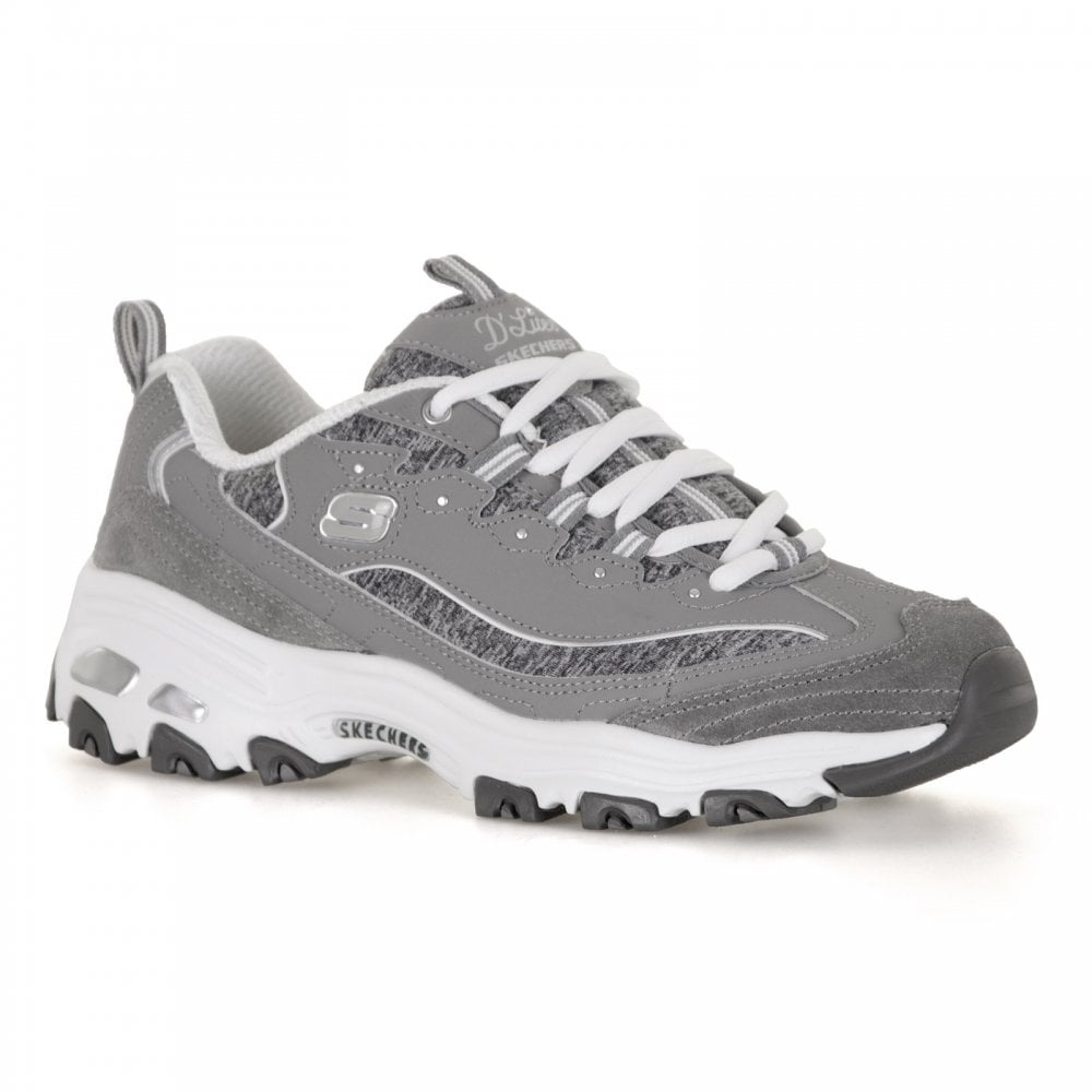 skechers womens d 39 lites me time trainers grey womens from loofes uk. Black Bedroom Furniture Sets. Home Design Ideas