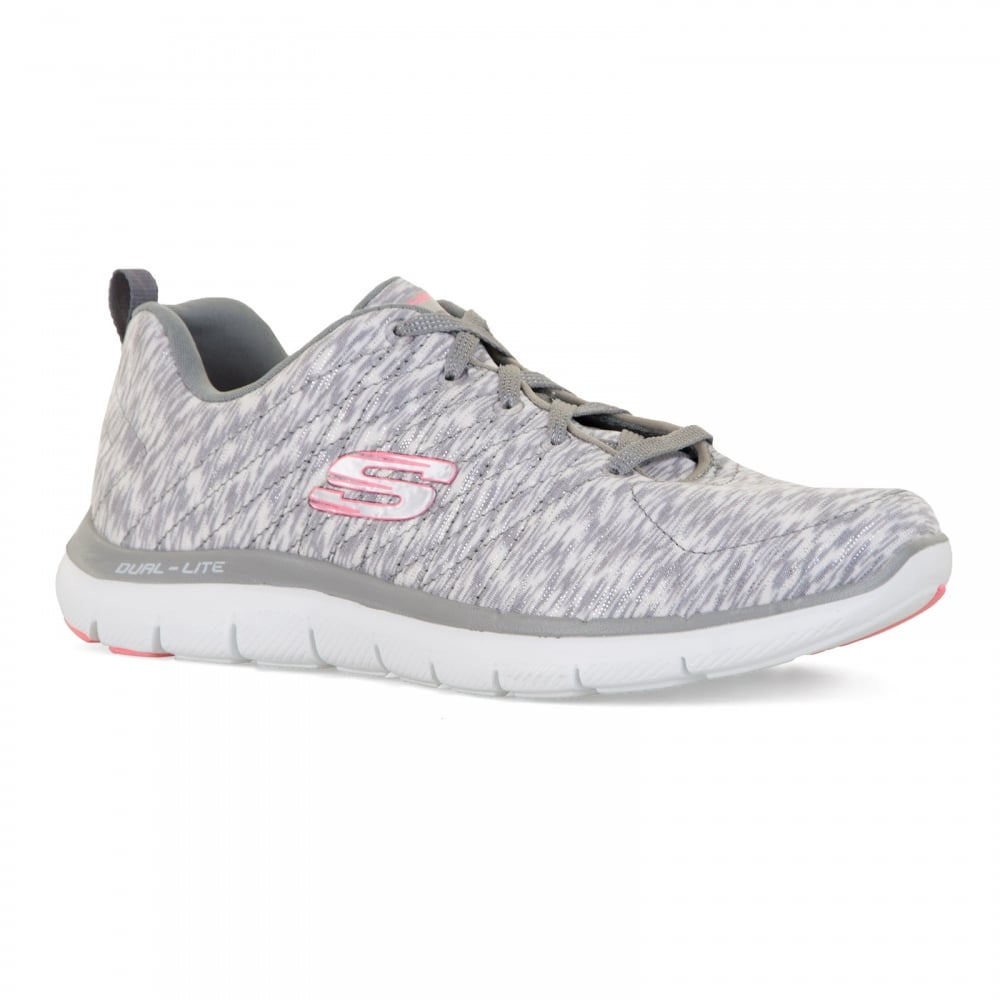 Skechers Womens Flex Appeal Reflections Trainers (Grey) - Womens ... f197a11bed