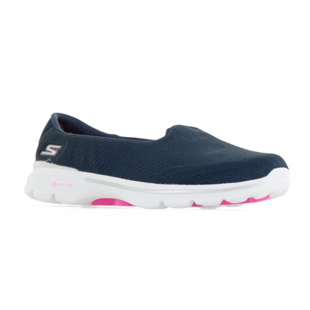 skechers womens go walk 3 trainers navy womens from. Black Bedroom Furniture Sets. Home Design Ideas