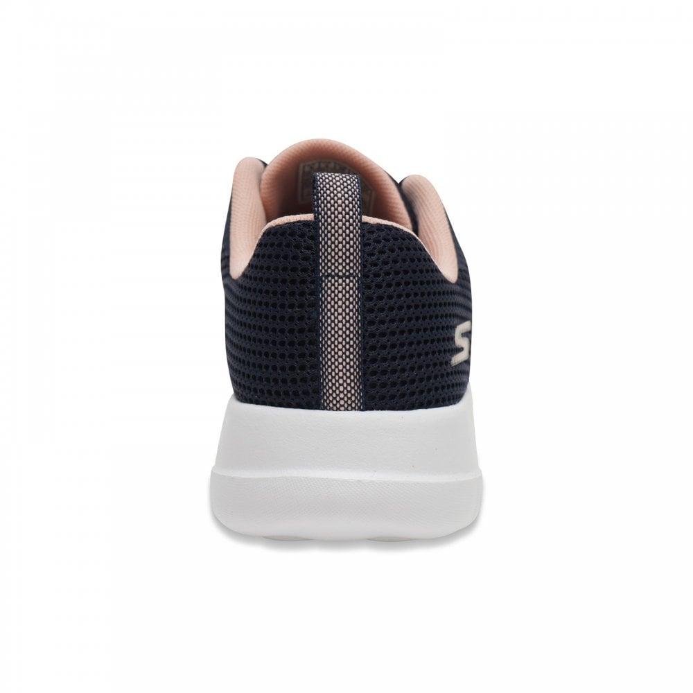 Ladies Skechers Go Walk Trainers Up Turn Navy//Pink 15641