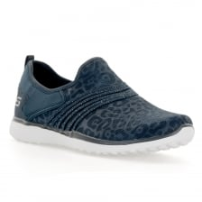 Skechers Womens Microburst Under Wraps Trainers (Navy)