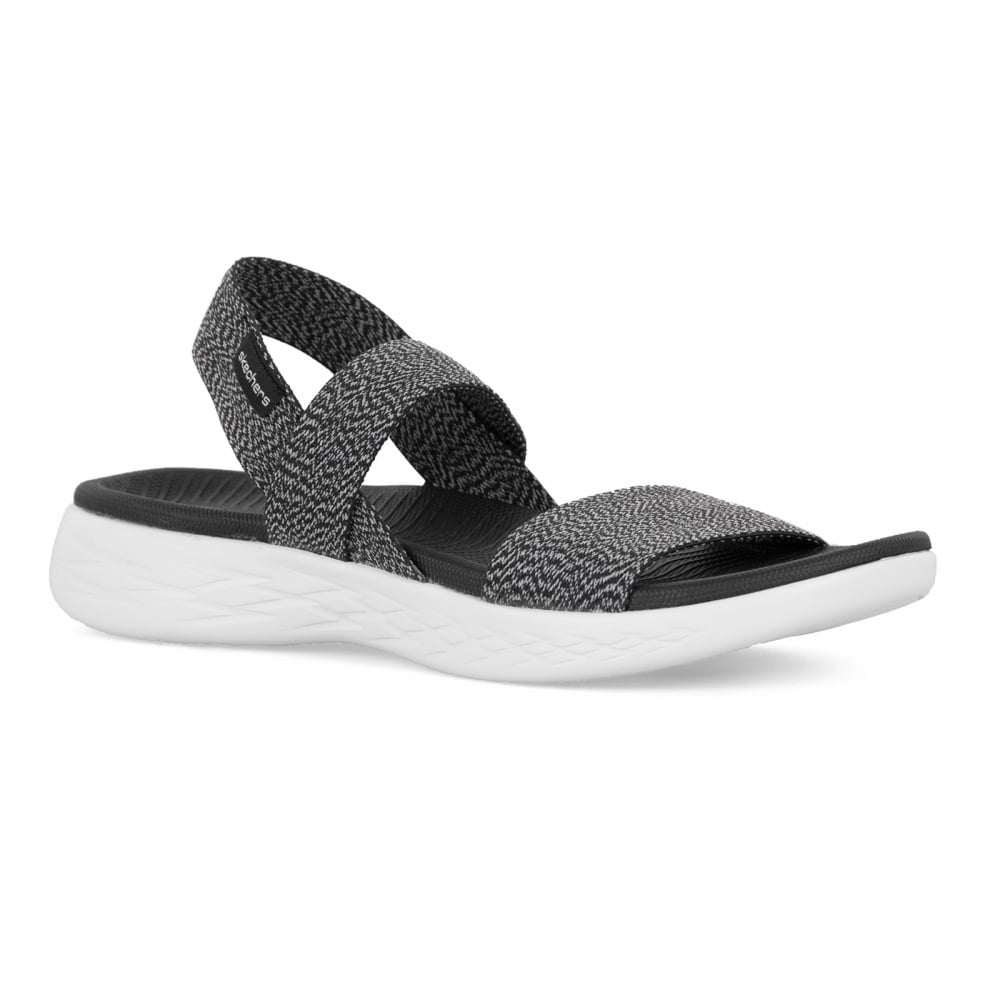 Skechers Womens On The Go 600 Ideal Sandals Black White