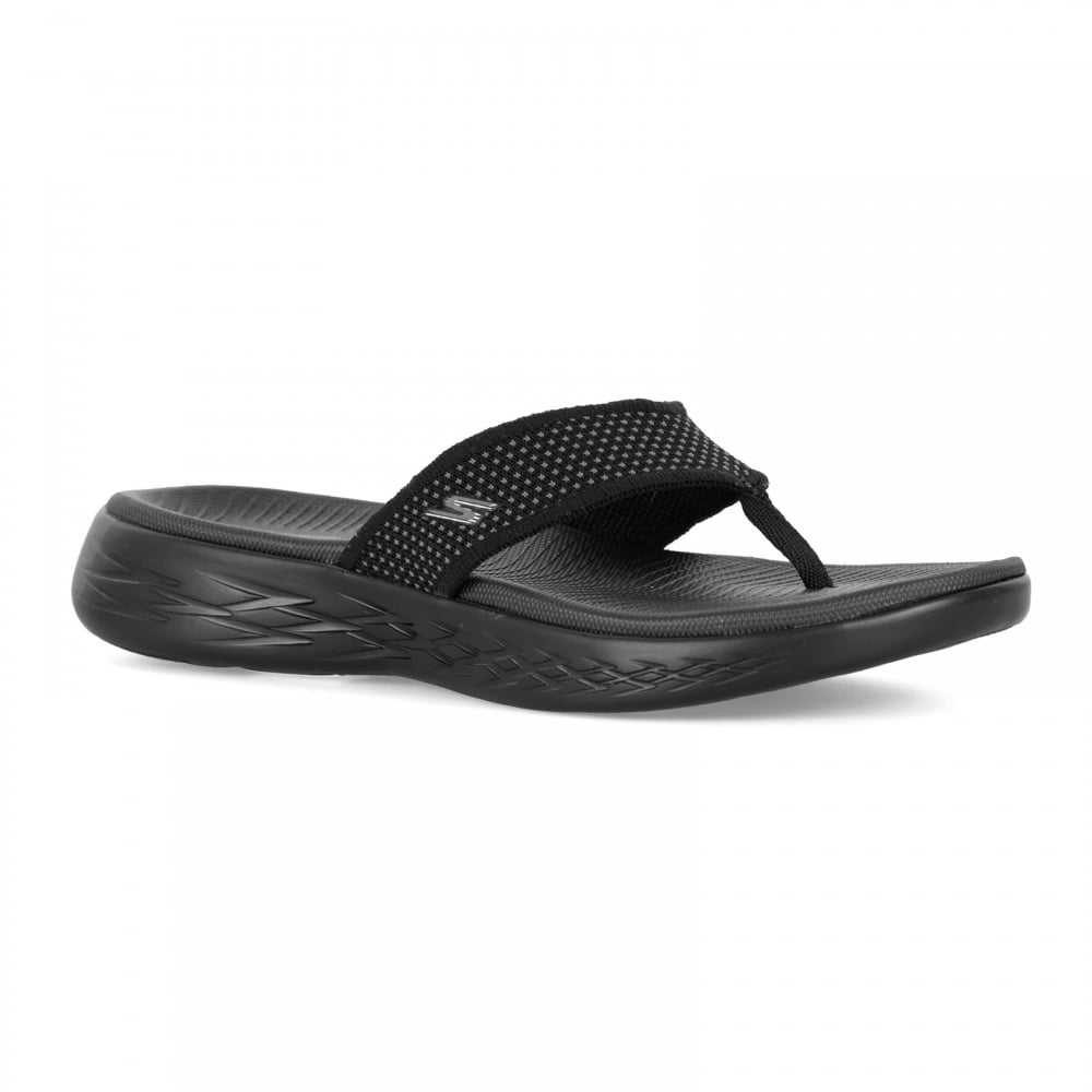 Skechers Womens On The Go 600 Sandals Black Womens