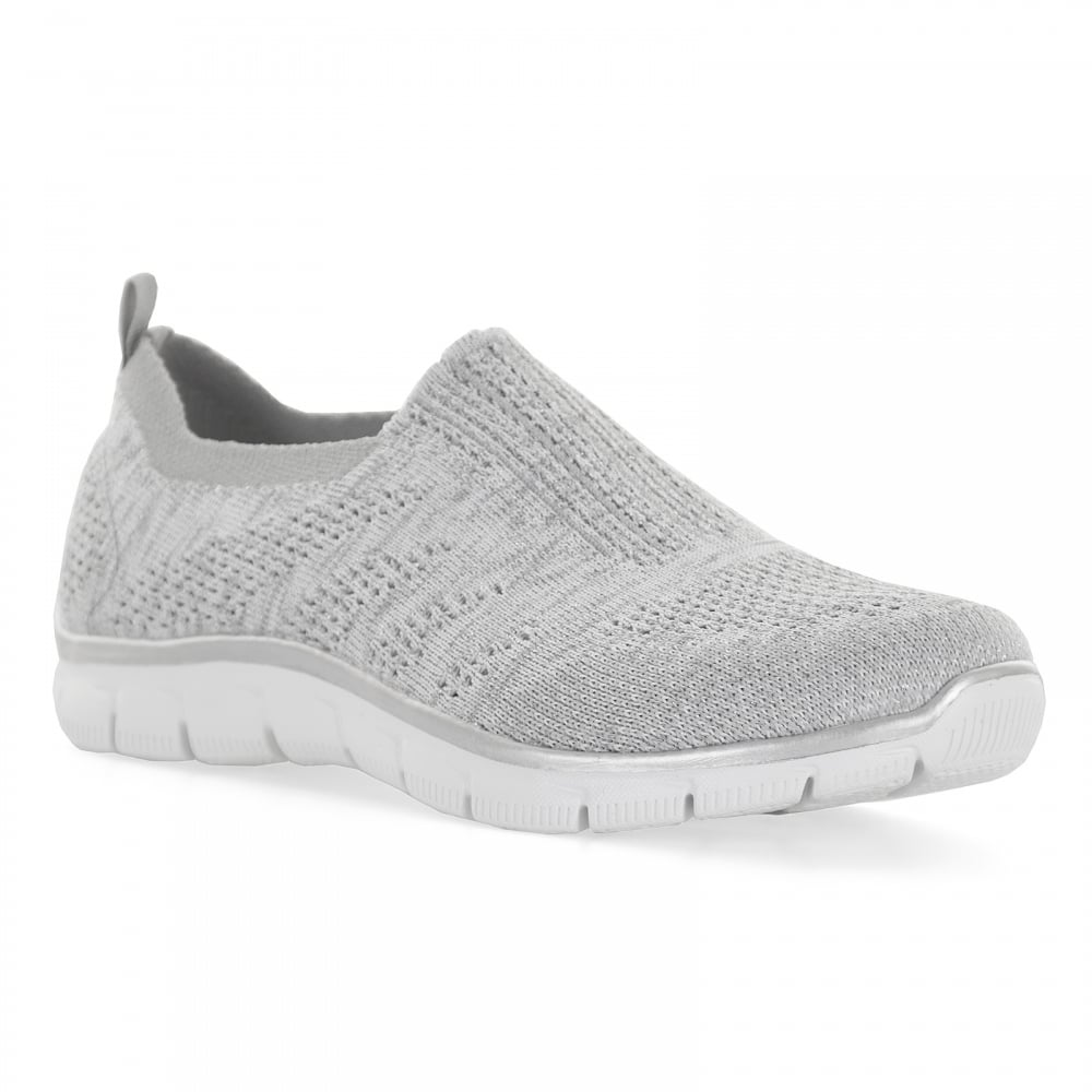 grey skechers womens