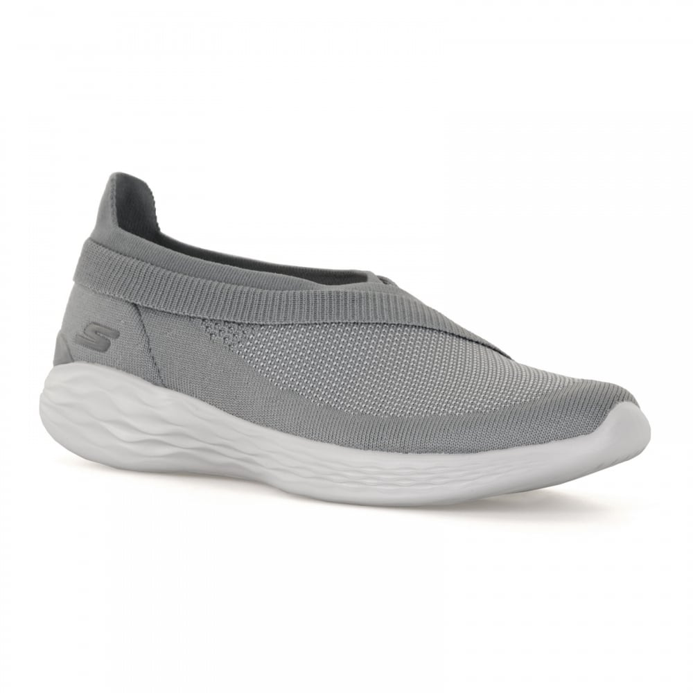 2e6a62d5fafe Skechers Womens You Luxe Trainers (Grey White) - Womens from Loofes UK