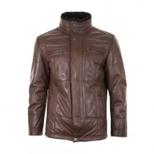 Smarty Mens Leon Leather Coat (Tan)