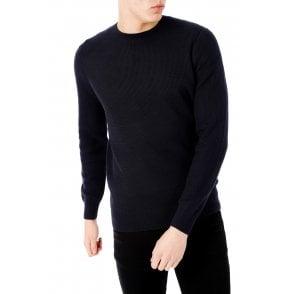 Black Superdry Men/'s Academy Crew Sweatshirt