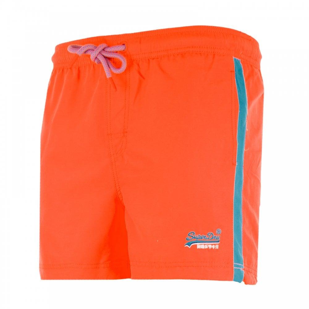 913c8f03eb Superdry Mens Beach Volley Swim Shorts (Orange) - Mens from Loofes UK