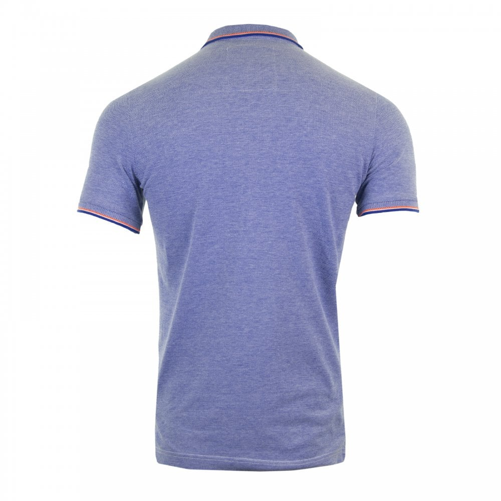 1c82d472a519 Superdry Mens Classic Poolside Pique Polo (Cobalt) - Mens from Loofes UK