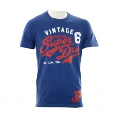 Superdry Mens Duo Rework Classic T-Shirt (Blue)