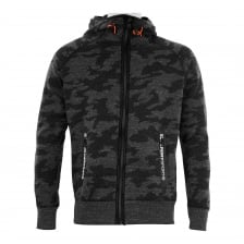 Superdry Mens Gym Tech Camo Zip Hoodie (Grey/Black)