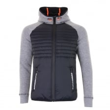 Superdry Mens Gym Tech Hybrid Zip Sweat (Grey)