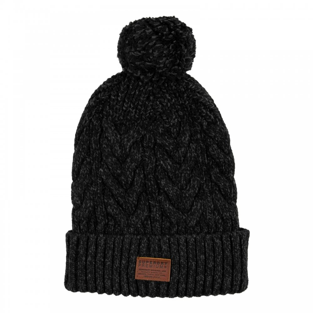 Superdry Mens Jacob Bobble Beanie Hat (Black) - Mens from Loofes UK 287e3cc08cc5